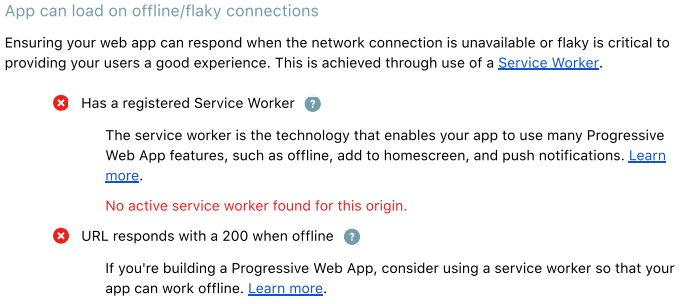 App can load on offline/flaky connections